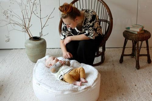 formbares Lagerungskissen für Babys Frühchen Säuglinge aus Öko Baumwolle