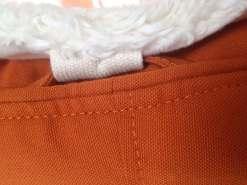 Baby Sitzsack Auflage aus ökologischer Baumwolle mit Befestigungsschlaufen