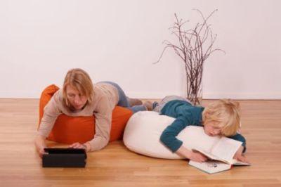 gesunder Liegesack für Familie mit formbarer Sitzsackfüllung aus Bio Dinkelspelzen