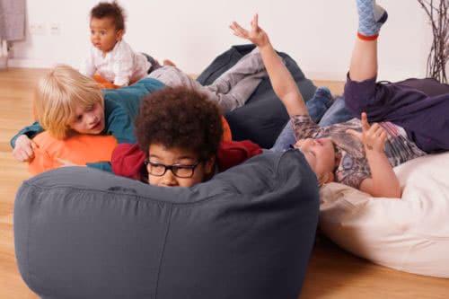 multifunktionaler Sitzsack für Kinder Kleinkinder weiss blau grün orange rot anthrazit