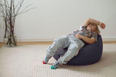 Liegesack Sitzsack für Kinder Jugendliche aus Bio Baumwolle mit Sitzsackfüllung Dinkelspelzen